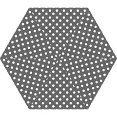 Gray Polka Dots Mini Folding Umbrellas by creativemom