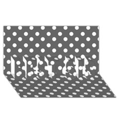 Gray Polka Dots Best Sis 3d Greeting Card (8x4)  by creativemom