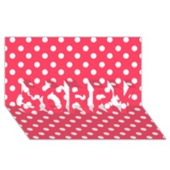 Hot Pink Polka Dots Sorry 3d Greeting Card (8x4)  by creativemom