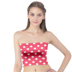 Hot Pink Polka Dots Women s Tube Tops by creativemom