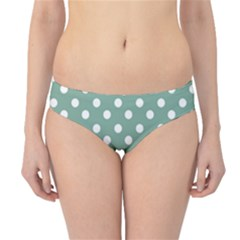 Mint Green Polka Dots Hipster Bikini Bottoms by creativemom