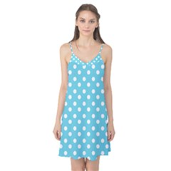 Sky Blue Polka Dots Camis Nightgown by creativemom