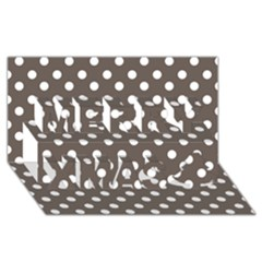 Brown And White Polka Dots Merry Xmas 3d Greeting Card (8x4)
