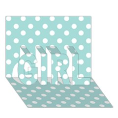 Blue And White Polka Dots Girl 3d Greeting Card (7x5)  by creativemom