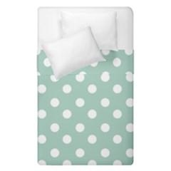 Light Blue And White Polka Dots Duvet Cover (Single Size)