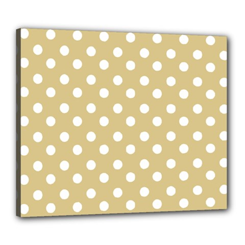 Mint Polka And White Polka Dots Canvas 24  X 20  by creativemom
