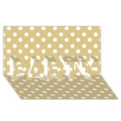 Mint Polka And White Polka Dots Party 3d Greeting Card (8x4)