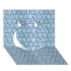 Geo Fun 7 Light Blue Heart 3d Greeting Card (7x5)