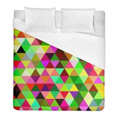 Geo Fun 07 Duvet Cover Single Side (twin Size) by MoreColorsinLife