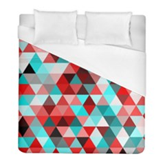 Geo Fun 07 Red Duvet Cover Single Side (twin Size) by MoreColorsinLife