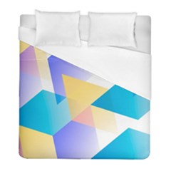 Geometric 03 Blue Duvet Cover Single Side (twin Size) by MoreColorsinLife