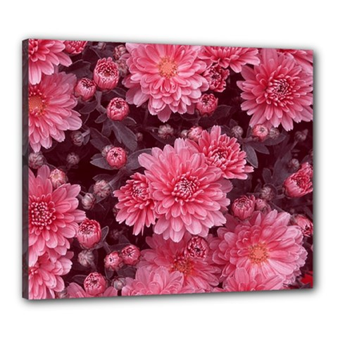 Awesome Flowers Red Canvas 24  X 20  by MoreColorsinLife