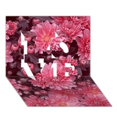 Awesome Flowers Red Love 3d Greeting Card (7x5)  by MoreColorsinLife