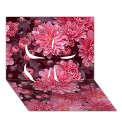 Awesome Flowers Red Clover 3d Greeting Card (7x5)  by MoreColorsinLife