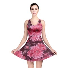Awesome Flowers Red Reversible Skater Dresses by MoreColorsinLife