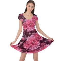 Awesome Flowers Red Cap Sleeve Dresses by MoreColorsinLife
