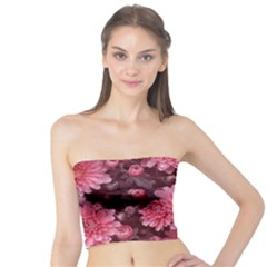 Awesome Flowers Red Women s Tube Tops by MoreColorsinLife