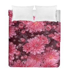 Awesome Flowers Red Duvet Cover (Twin Size)