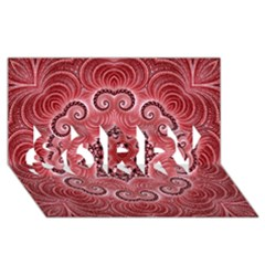 Awesome Kaleido 07 Red Sorry 3d Greeting Card (8x4)  by MoreColorsinLife