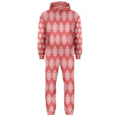 Abstract Knot Geometric Tile Pattern Hooded Jumpsuit (men)  by creativemom