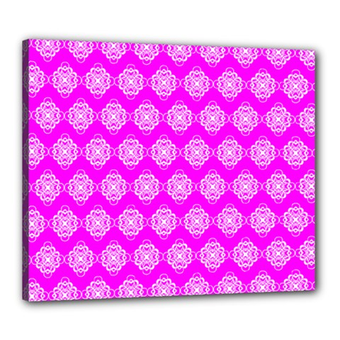 Abstract Knot Geometric Tile Pattern Canvas 24  X 20  by creativemom