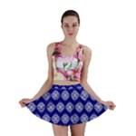 Abstract Knot Geometric Tile Pattern Mini Skirts