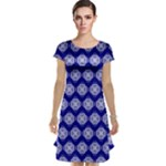 Abstract Knot Geometric Tile Pattern Cap Sleeve Nightdresses