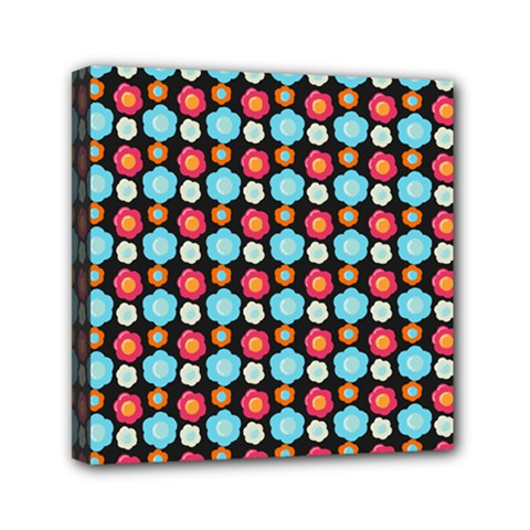 Colorful Floral Pattern Mini Canvas 6  X 6  by creativemom