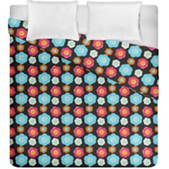 Colorful Floral Pattern Duvet Cover (king Size) by creativemom