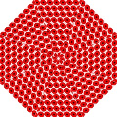 Red Peony Flower Pattern Golf Umbrellas by creativemom
