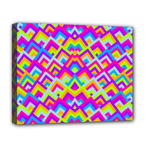 Colorful Trendy Chic Modern Chevron Pattern Deluxe Canvas 20  X 16   by creativemom