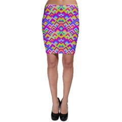 Colorful Trendy Chic Modern Chevron Pattern Bodycon Skirts by creativemom