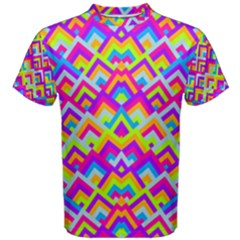 Colorful Trendy Chic Modern Chevron Pattern Men s Cotton Tees by creativemom