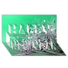 Dandelion 2015 0718 Happy New Year 3D Greeting Card (8x4)