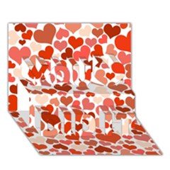 Heart 2014 0901 You Did It 3d Greeting Card (7x5) by JAMFoto