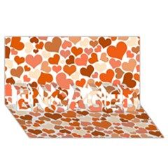 Heart 2014 0902 Engaged 3d Greeting Card (8x4)
