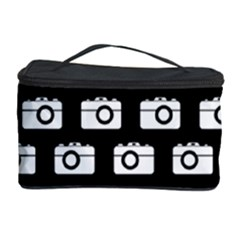 Modern Chic Vector Camera Illustration Pattern Cosmetic Storage Cases by creativemom