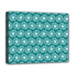 Gerbera Daisy Vector Tile Pattern Deluxe Canvas 20  x 16