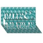 Gerbera Daisy Vector Tile Pattern Happy Birthday 3D Greeting Card (8x4)