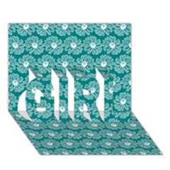 Gerbera Daisy Vector Tile Pattern Girl 3d Greeting Card (7x5)  by creativemom