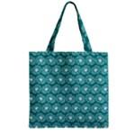 Gerbera Daisy Vector Tile Pattern Zipper Grocery Tote Bags