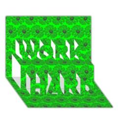 Gerbera Daisy Vector Tile Pattern Work Hard 3d Greeting Card (7x5)  by creativemom