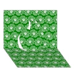 Gerbera Daisy Vector Tile Pattern Apple 3d Greeting Card (7x5)