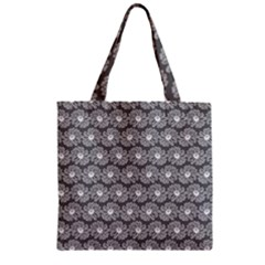 Gerbera Daisy Vector Tile Pattern Zipper Grocery Tote Bags by creativemom