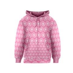 Pink Gerbera Daisy Vector Tile Pattern Kids Zipper Hoodies by creativemom