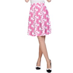 Cute Candy Illustration Pattern For Kids And Kids At Heart A-Line Skirts