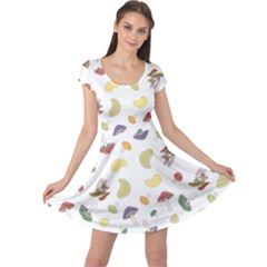 Mushrooms Pattern Cap Sleeve Dresses by Famous