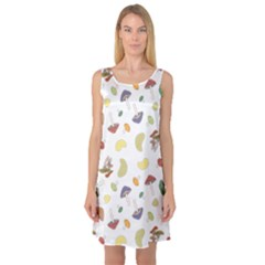 Mushrooms Pattern Sleeveless Satin Nightdresses by Famous