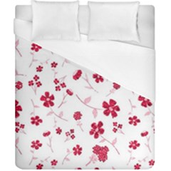 Sweet Shiny Floral Red Duvet Cover Single Side (double Size) by ImpressiveMoments