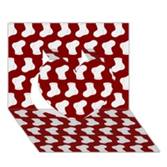 Cute Baby Socks Illustration Pattern Heart 3D Greeting Card (7x5)